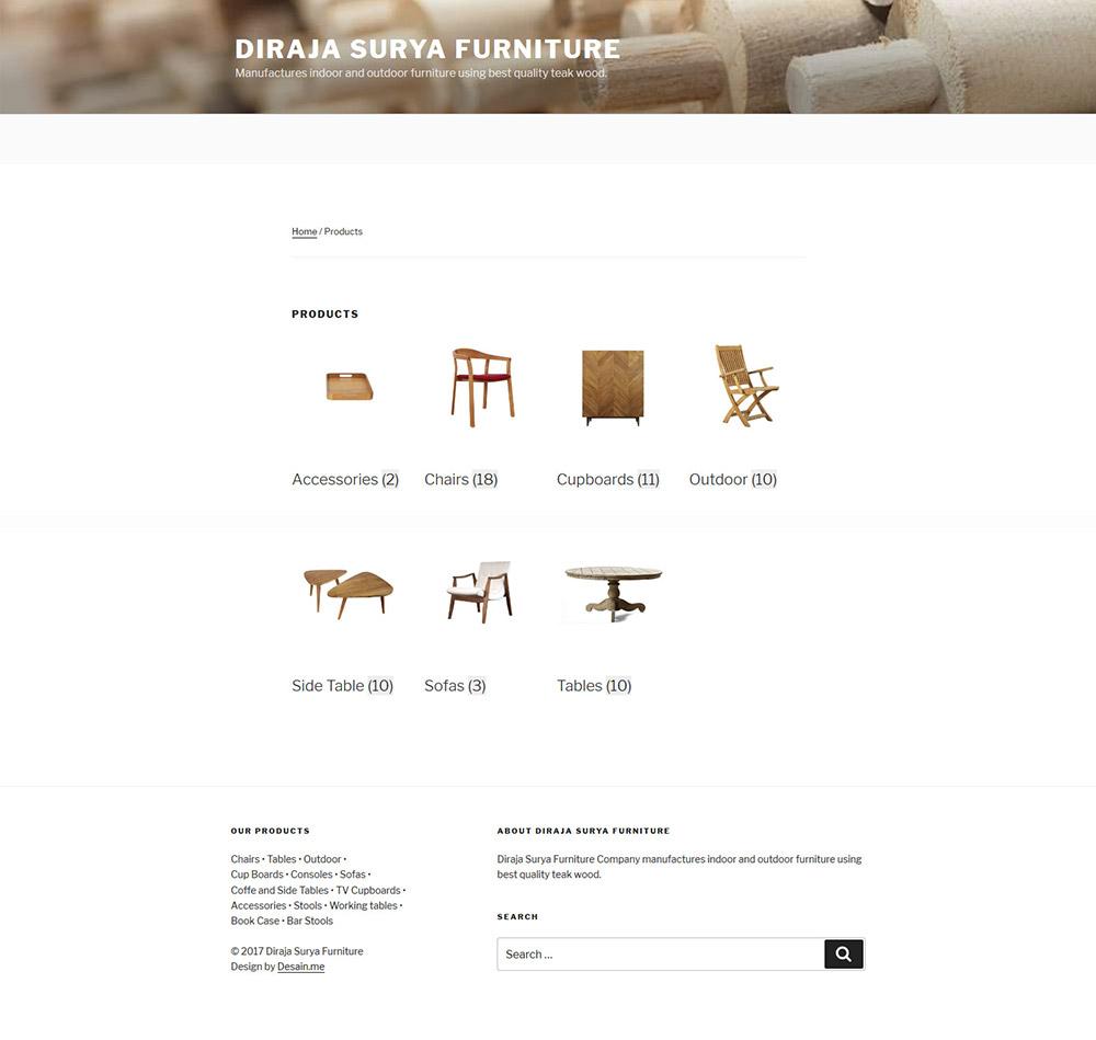 Diraja Surya Furniture Produk
