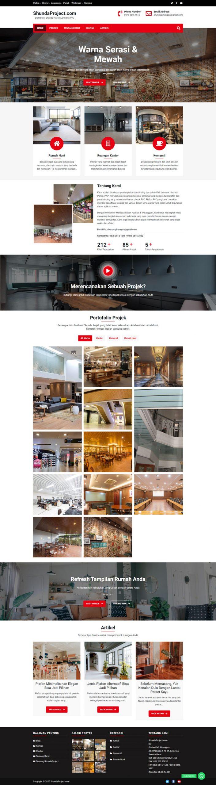 ShundaProject.com homepage preview full 1 halaman